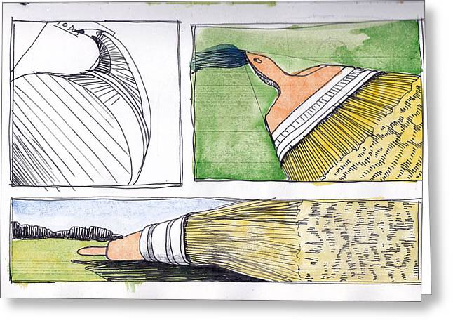 Brushes Greeting Card by Chad Brown
