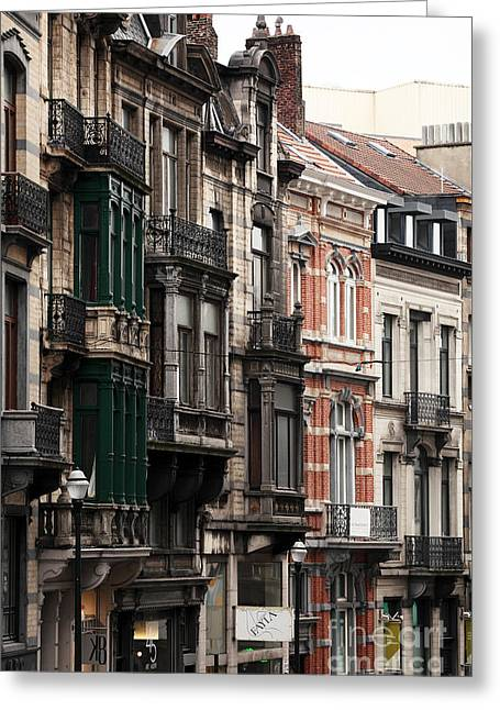 Brussels Architecture Greeting Card by John Rizzuto