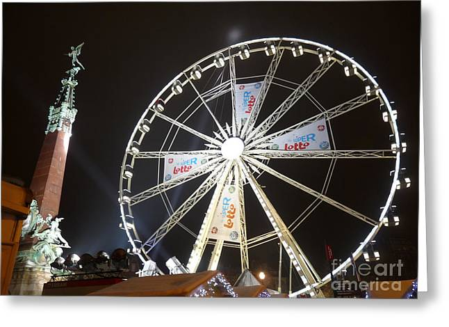 Greeting Card featuring the photograph Brussels Christmas Market by Deborah Smolinske