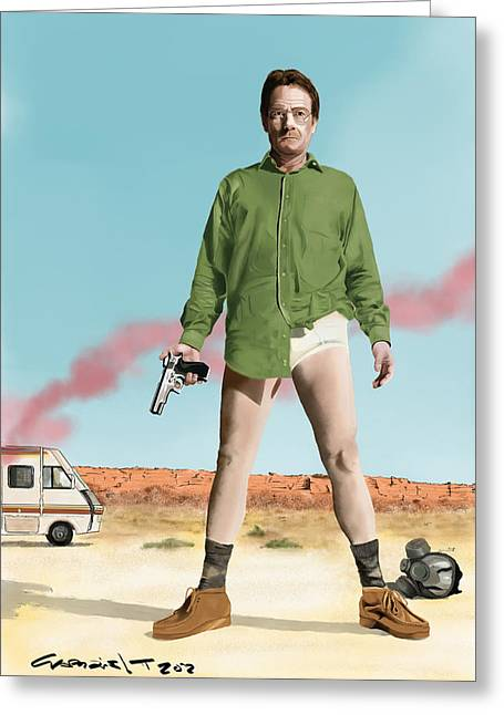 Bryan Cranston As Walter White  @ Tv Serie Breaking Bad Greeting Card