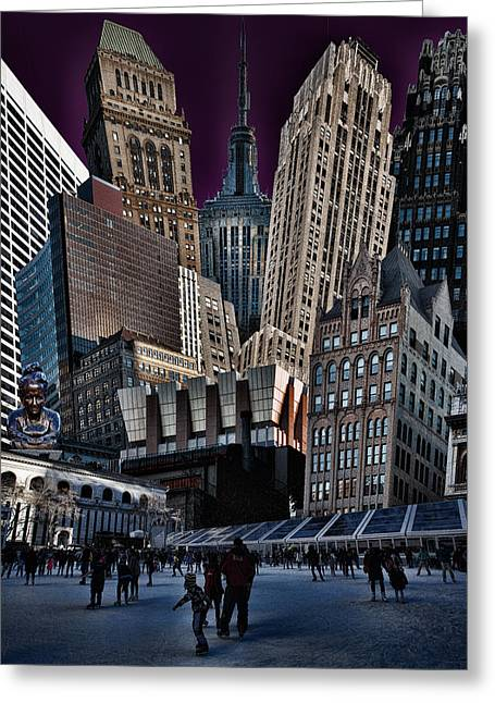 Bryant Park Collage Greeting Card