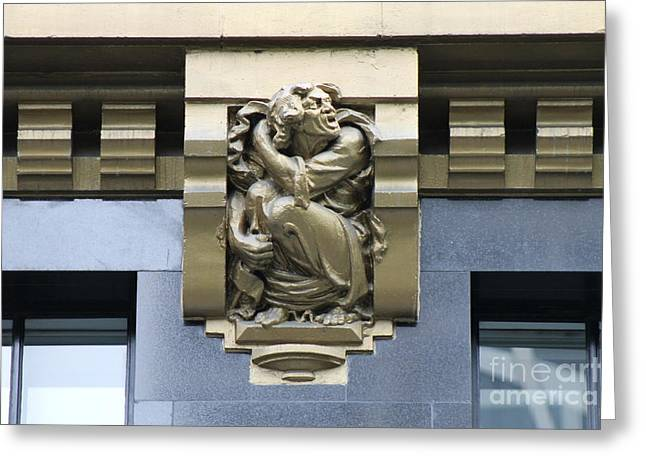 Bryant Park Hotel Gargoyle Greeting Card by Bobby Cole