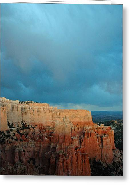 Bryce Canyon And Stormy Sky Greeting Card by Bruce Gourley