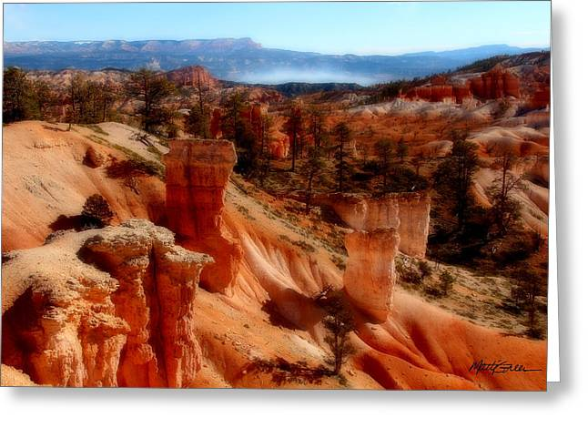 Bryce Canyon Cliff Greeting Card by Marti Green