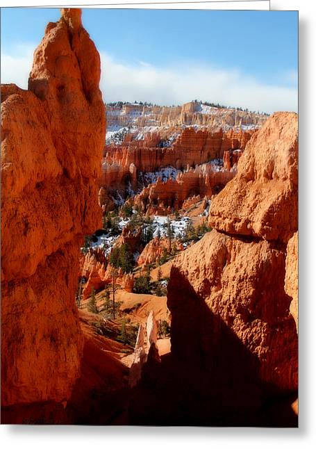 Bryce Canyon Cliff Shot Greeting Card by Marti Green