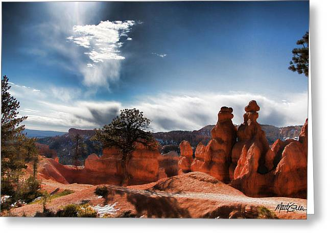 Bryce Canyon Drama Greeting Card by Marti Green