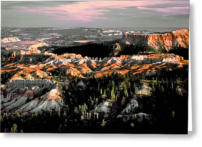 Bryce Canyon In Evening Light Greeting Card