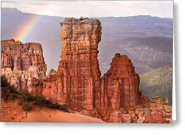 Bryce Canyon In Rain Greeting Card