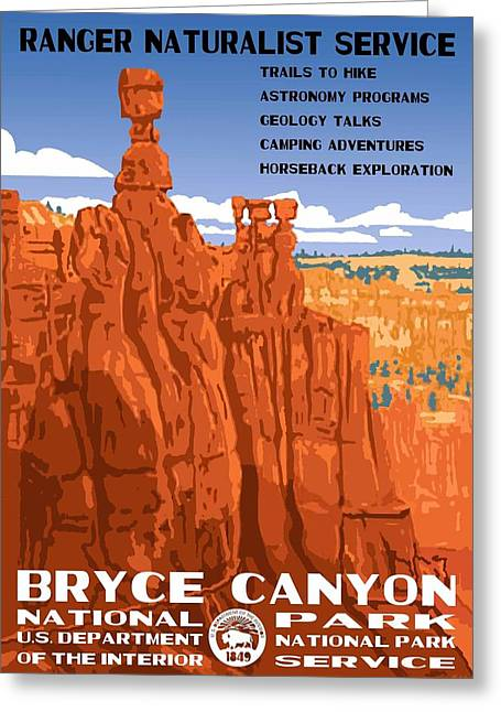 Bryce Canyon National Park Vintage Poster 2 Greeting Card