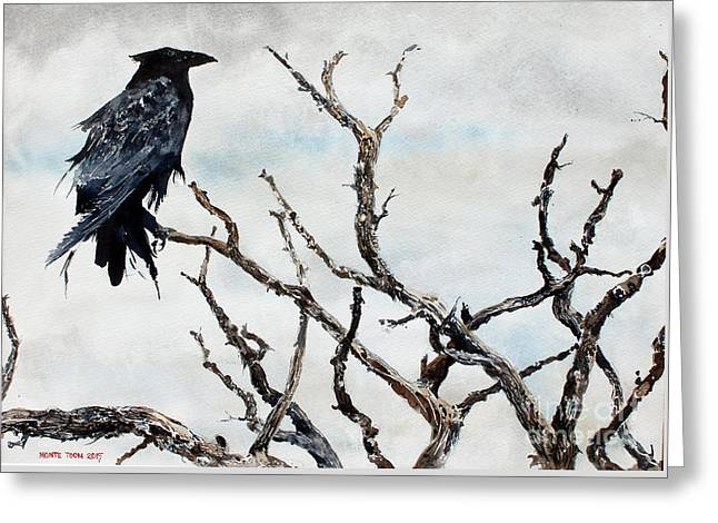 Bryce's Raven Greeting Card by Monte Toon