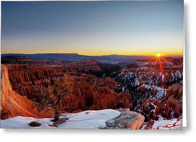 Bryce Canyon Sunrise Greeting Card by Leland D Howard