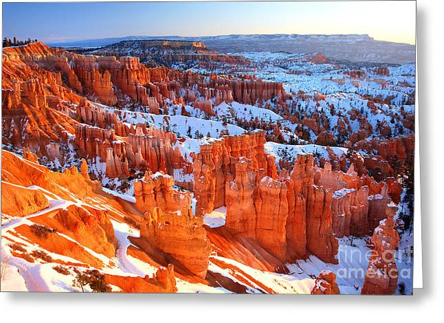 Bryce Canyon Winter Greeting Card