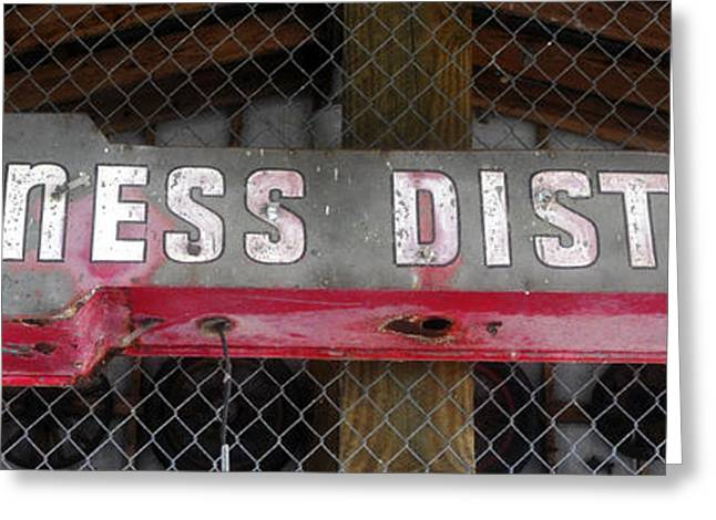 B District Greeting Card by David Lee Thompson