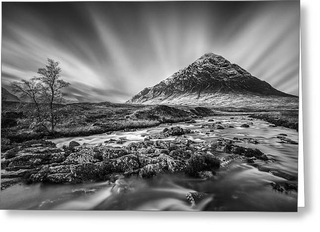 Buachaille Etive Mor 2 Greeting Card by Dave Bowman