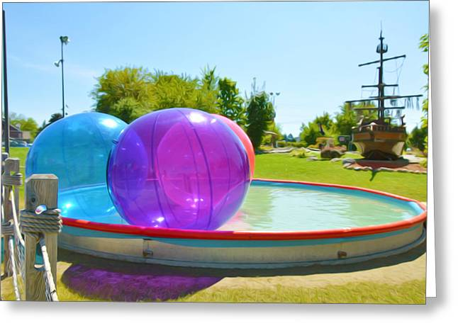 Bubble Ball 2 Greeting Card by Lanjee Chee