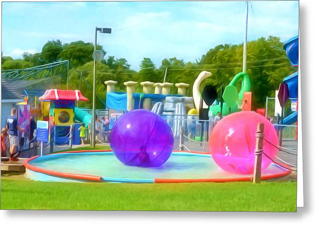 Bubble Ball 4   Greeting Card by Lanjee Chee