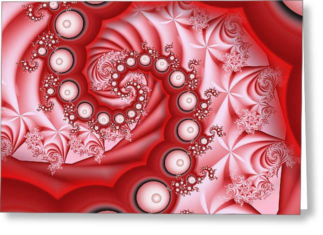Bubble Bath And Roses Greeting Card