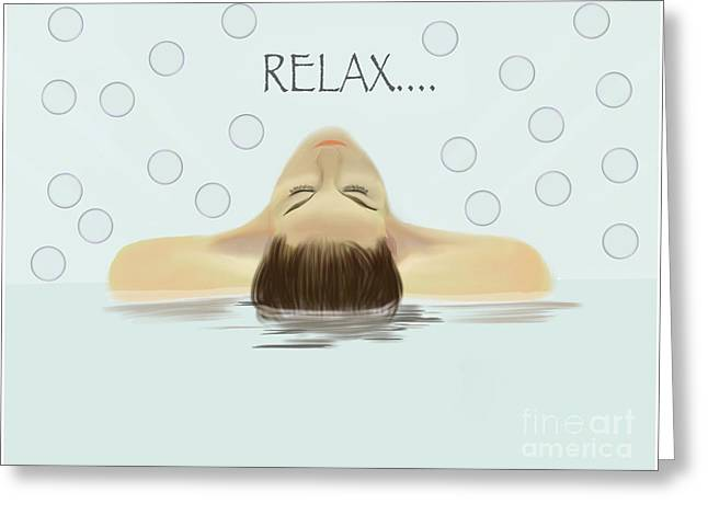 Bubble Bath Luxury Greeting Card