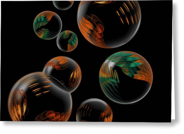 Bubble Farm Fractal Greeting Card by Kathleen Holley