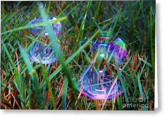 Bubble Illusions 1 Greeting Card by Judy Via-Wolff