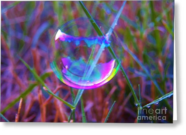 Bubble Illusions 3 Greeting Card by Judy Via-Wolff