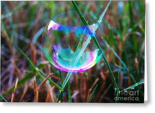 Bubble Illusions 4 Greeting Card by Judy Via-Wolff