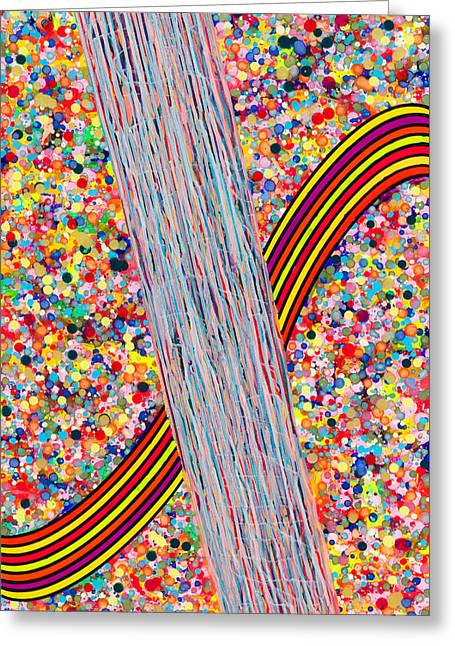 Bubble Rainbow Greeting Card by Patrick OLeary