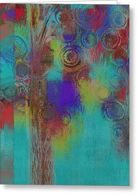 Bubble Tree - Sped09r Greeting Card by Variance Collections