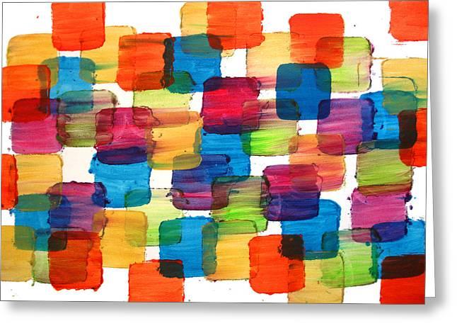 Bubble Wrap Blocks Art Abstract Paintings Splashyart.com Greeting Card