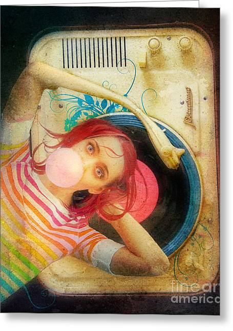 Bubblegum Pop Greeting Card by Aimee Stewart