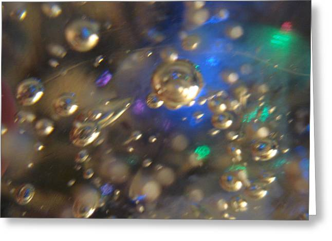Bubbles Glass With Light Greeting Card