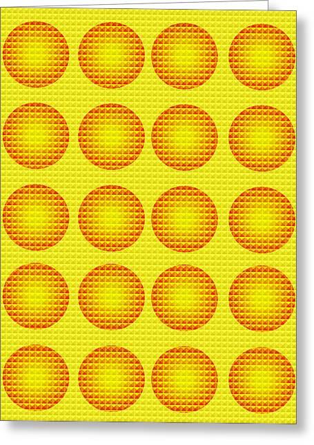 Bubbles Honeycomb Warhol  By Robert R Greeting Card