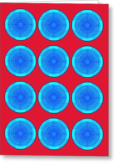 Bubbles Minty Blue Poster Greeting Card