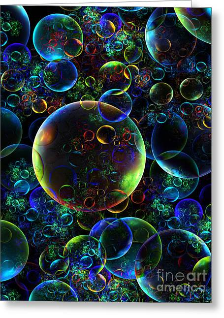 Bubbles Orgy 2 Greeting Card