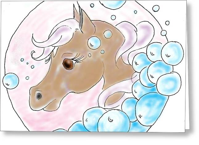 Bubbles Profile Greeting Card