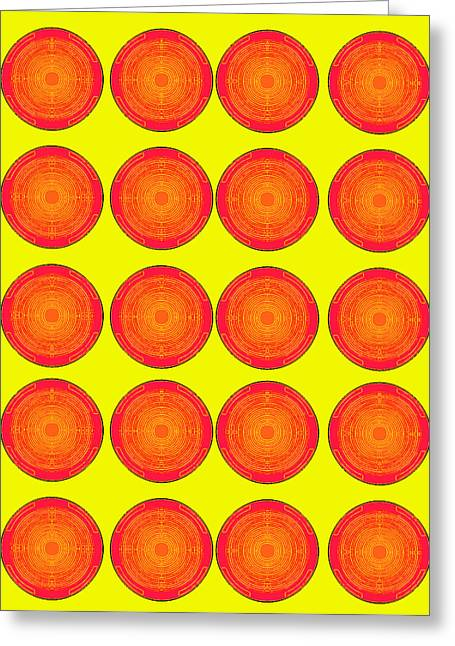 Bubbles Sunny Oranges Warhol  By Robert R Greeting Card