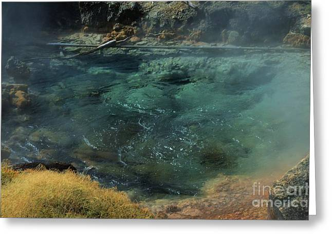 Bubbling Hot Springs Greeting Card by Kathleen Struckle