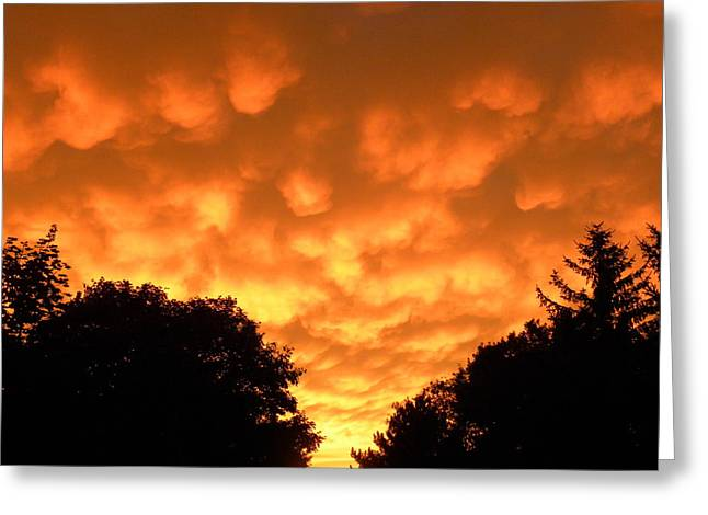 Bubbling Sky Greeting Card by Teresa Schomig