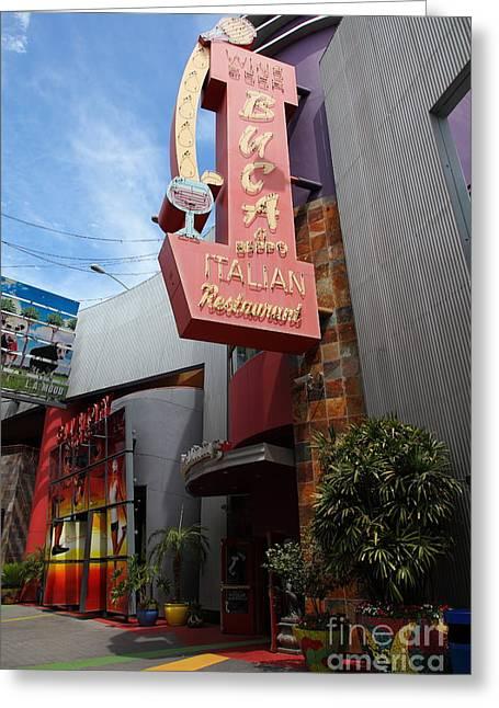 Buca Italian Restaurant Universal Studios City Walk Hollywood In Los Angeles California 5d28413 Greeting Card by Wingsdomain Art and Photography