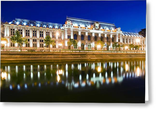 Bucharest At Night Greeting Card by Ioan Panaite