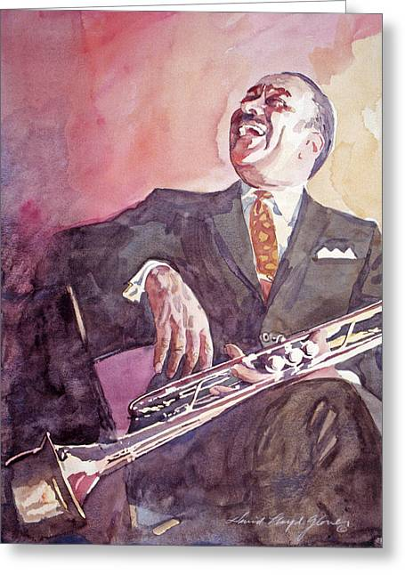 Buck Clayton Jazz Horn Greeting Card by David Lloyd Glover
