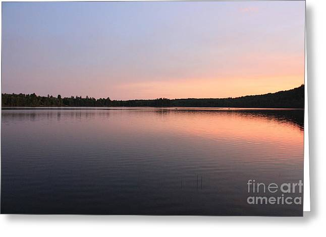 Greeting Card featuring the photograph Buck Pond At Dusk by Paul Cammarata