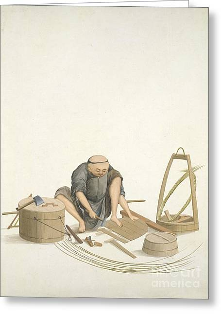 Bucket-maker, 19th-century China Greeting Card by British Library