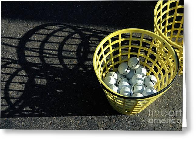 Bucket Of Golf Balls Greeting Card