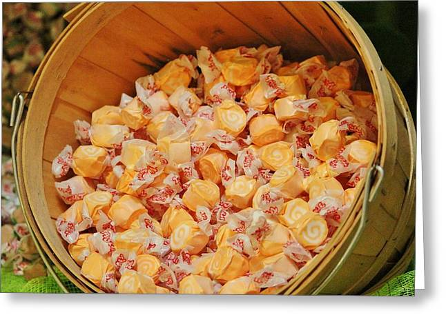 Greeting Card featuring the photograph Bucket Of Taffy by Cynthia Guinn