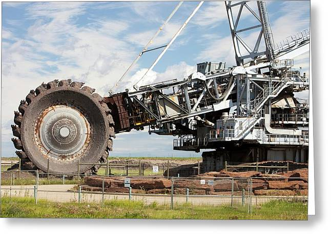 Bucket Wheel Syncrude Upgrader Plant Greeting Card by Ashley Cooper
