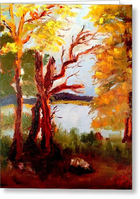 Buckhead Trail Greeting Card by Jenell Richards