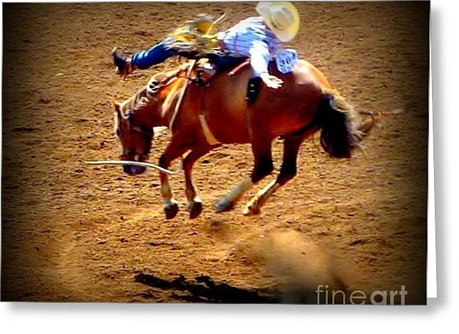 Greeting Card featuring the photograph Bucking Broncos Rodeo Time by Susan Garren