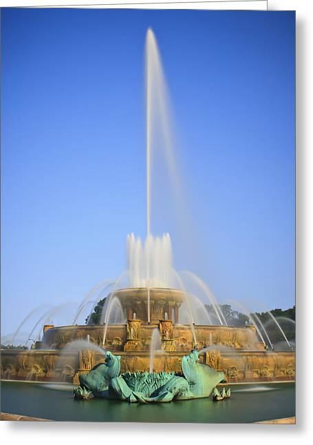 Buckingham Fountain Greeting Card by Adam Romanowicz