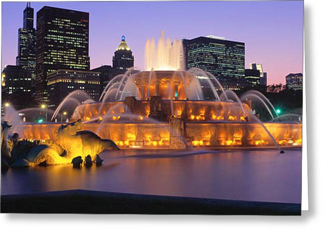 Buckingham Fountain, Chicago, Illinois Greeting Card by Panoramic Images